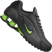 Tênis Nike Shox R4 - Masculino - Cinza Esc/Verde