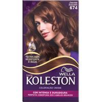 Tintura Wella Koleston Kit Creme 674 Chocolate Acobreado