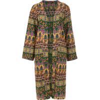 A.Brand Kimono Midi Bordado - Estampado