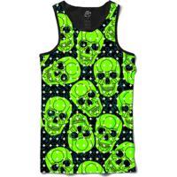 Camiseta Bsc Regata Green Skull Full Print - Masculino