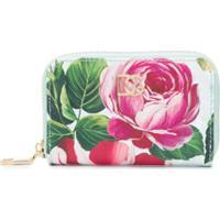 Dolce & Gabbana Porta-Moedas Com Estampa De Rosas Tropicais - Azul