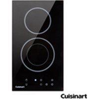Cooktop Domino Eletrico Cuisinart Vitroceramico Com 02 Bocas, Acendimento Automatico, Painel Touch, Preto - Cfea32100