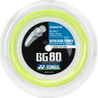 Corda De Badminton Yonex Bg 80 Verde Limão - Rolo Com 200 Metros - Unissex