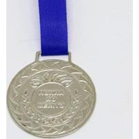 Medalha Honra Ao Mérito Prata Com Fita 30Mm Zona Livre - Unissex