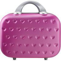 Frasqueira Love- Pink & Cinza- 26X31,5X14,5Cm- Jjacki Design