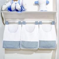 Porta Treco De Parede Padroeira Baby Maritimus Azul Bebê