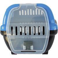 Caixa Para Transporte- Azul & Preta- 35X25X45Cm-4 Patas