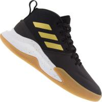Tênis Cano Alto Adidas Own The Game - Masculino - Preto/Ouro