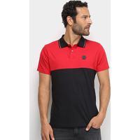 Camisa Polo Ecko Especial Masculina - Masculino-Vermelho