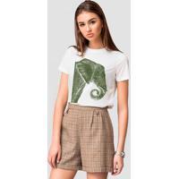 Camiseta Basica Joss Elefante Verde Branco - Tricae