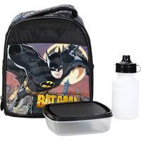 Lancheira Infantil Xeryus Térmica Batman Gothan Guardian - Masculino-Preto