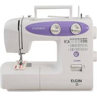 Máquina De Costura Elgin Jx-6000 31 Pontos Branco/Lilás 220V