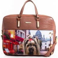 Bolsa Pasta Para Notebook Rafitthy Be Forever Cachorrinho Feminina