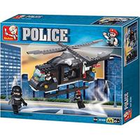 Blocos Polícia Helicóptero De Combate 219 Peças - Br834