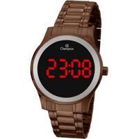 Relógio Champion Digital Ch48046R Feminino - Feminino-Marrom