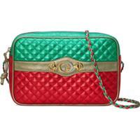 Gucci Laminated Leather Small Shoulder Bag - Verde