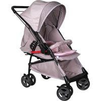 Carrinho De Bebê Maranello Preto Cinza Rosa - Tricae