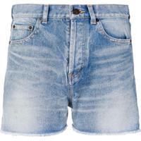 Saint Laurent Short Jeans - Azul