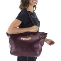 Bolsa Puma Core Up G Fem - Vinho