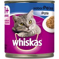 Ração Para Gatos Whiskas Adulto 1+ Anos Patê Sabor Peixe Lata 290G