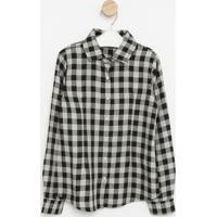 Camisa Xadrez- Cinza & Preta- Pequena Maniapequena Mania