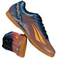 Chuteira Futsal Penalty Stm Amazonas Viii 124151-7029, Cor: Azul/Laranja, Tamanho: 41