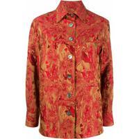 Alberto Biani Camisa Com Bordado Floral - Vermelho