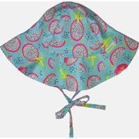 Chapéu Com Proteção Solar Fpu 50+ Ecoeplay Pitaya Verde Água