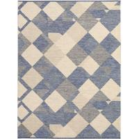 Tapete Art Boucle Jeans- Bege & Azul- 200X150Cm-Tapete São Carlos