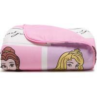 Edredom Princesas Disneyâ® Solteiro- Rosa & Lilã¡S- 15Santista