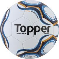 Bola De Futebol De Campo Topper Maestro Td1 - Branco/Azul Esc