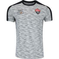 Camisa Do Vitória Concentração Comissão Técnica 2018 Topper - Masculina - Cinza/Preto