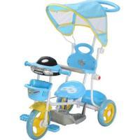 Triciclo Infantil Passeio Com Empurrador 2 Em 1 Motoca - Masculino-Azul