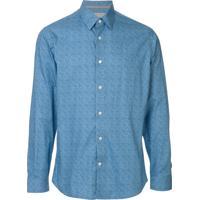 Gieves & Hawkes Camisa Com Estampa Paisley - Azul