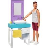 Barbie Ken Playset Banheiro - Mattel - Tricae