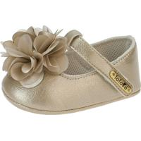 Sapato Fofopé Boneca Flor Dourado