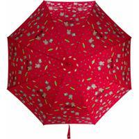 Moschino Guarda-Chuva Com Estampa De Logo E Tema Do Espaço - Vermelho