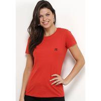 Camiseta Ellus 2Nd Floor Básica Logo Feminina - Feminino