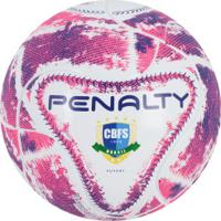 ... Bola De Futsal Penalty Max 500 Termotec Ix - Branco Rosa 61413ce410d82