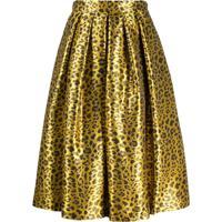 Ultràchic Animal Print Skirt - Amarelo