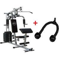Estação De Musculação Com 80Kg E Triceps Corda Wct Fitness 1112