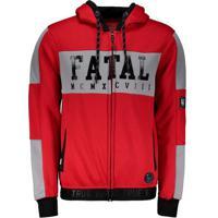 Jaqueta Fatal Especial Logo Vermelha E Cinza