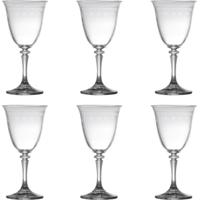 Conjunto 6 Taças Para Licor De Vidro Sodo-Cálcico Com Titanio Kleopatra Pantografada 50Ml - Unissex