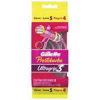 Aparelho De Depilação Gillette Prestobarba 3 Feminino Leve 5 Pague 4