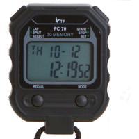 Cronômetro Ax Esportes Digital Profissional Com 30 Voltas - Yw270 Preto