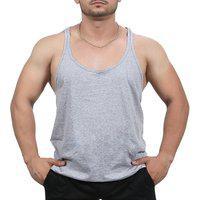 Camiseta Regata Super Cavada Academia Masculino Cinza