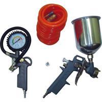 Kit De Acessórios Para Compressor Motomil Man Com Pistola, Mangueira, Calibrador, Bico