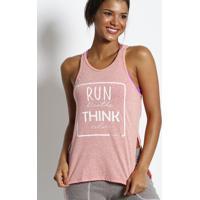 Regata ''Run Breathe Think Relax''- Salmã£O & Branca-Physical Fitness