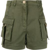 Balmain Short Com Bolsos - Verde