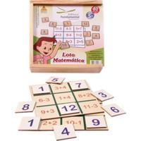 Loto Matematica 4 Placas + 36 Peças Em Mdf - Kanui